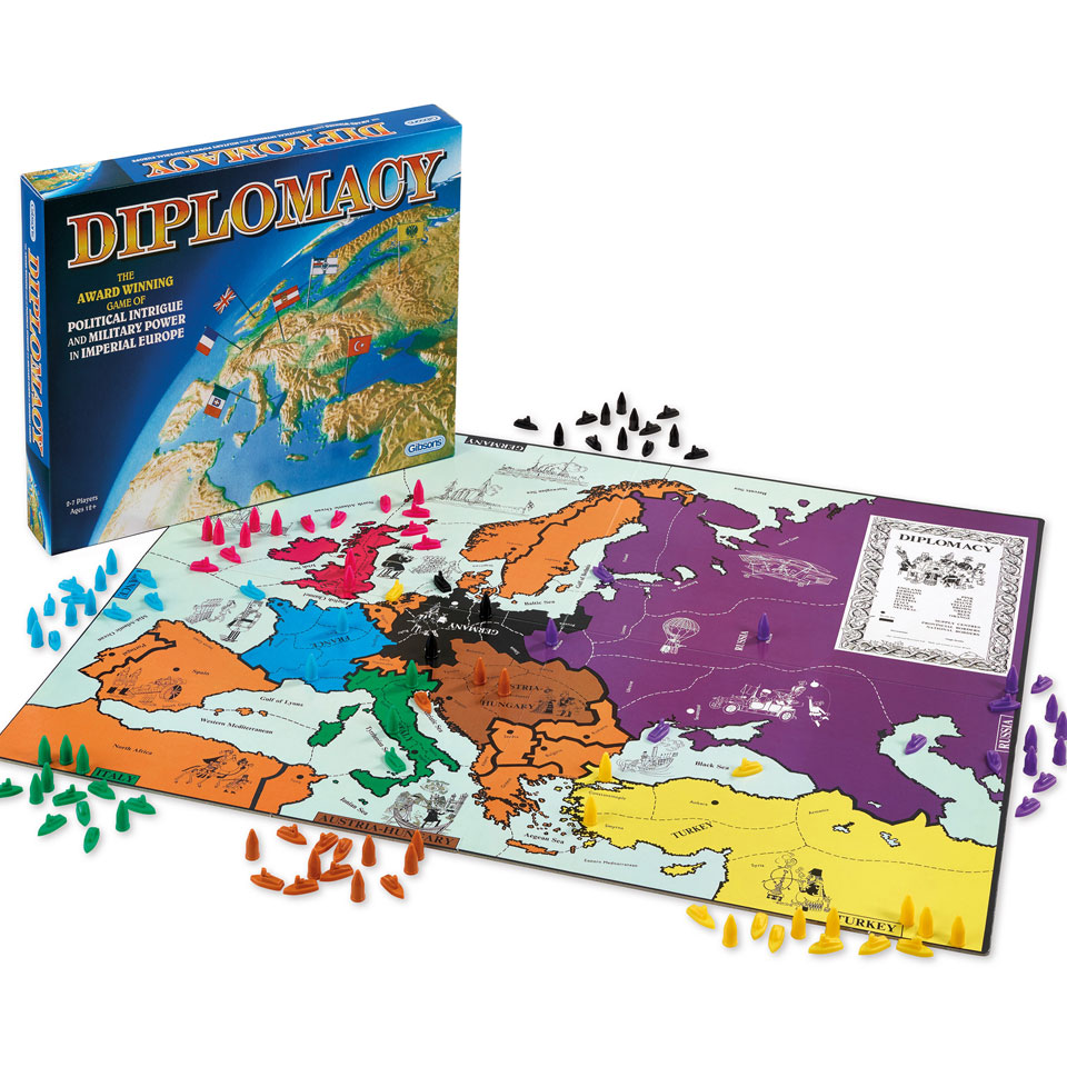 """a review of the diplomacy programming project an online strategic board game Diplomacy's public dimension: books, articles, websites #64 department's accountability review board used a game comparable to """"the prisoner."""
