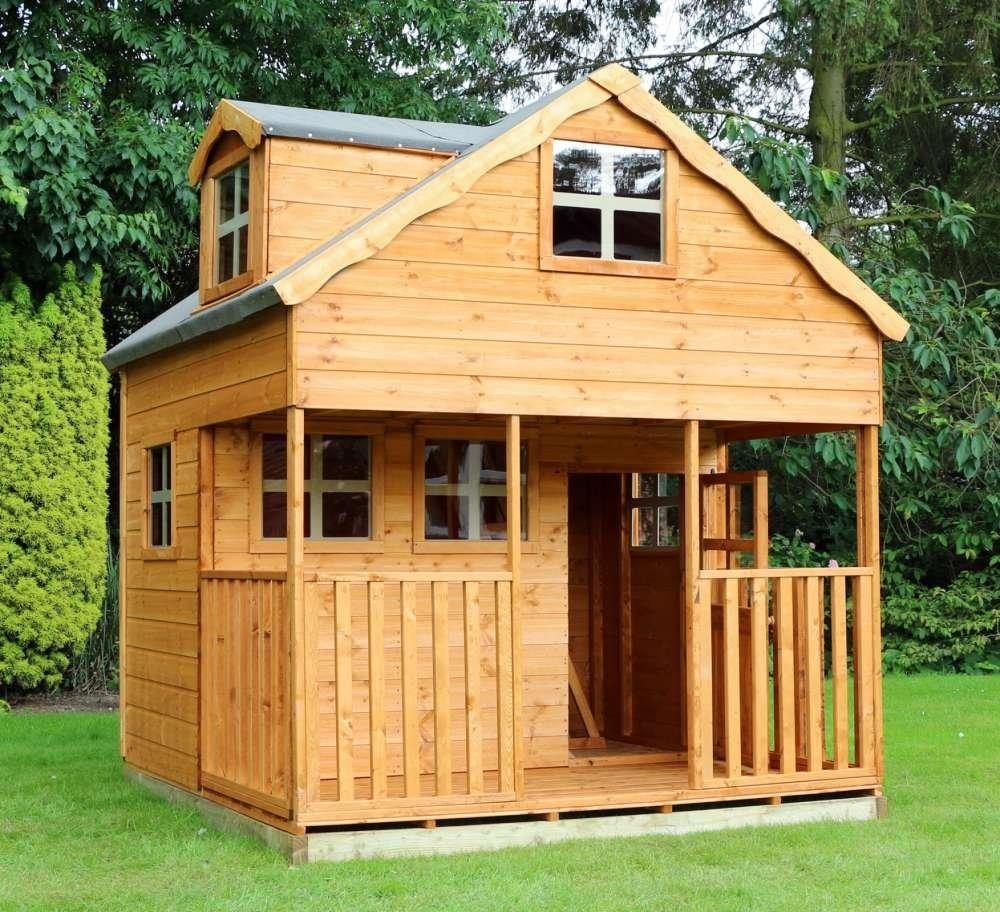 7' x 7' Double Storey Playhouse with Dorma Window