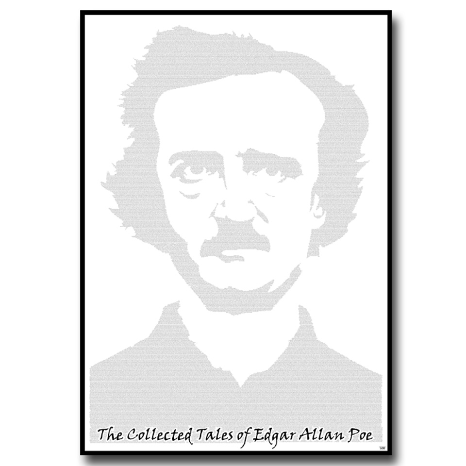 Edgar Allan Poe Selected Tales Text Wall Print