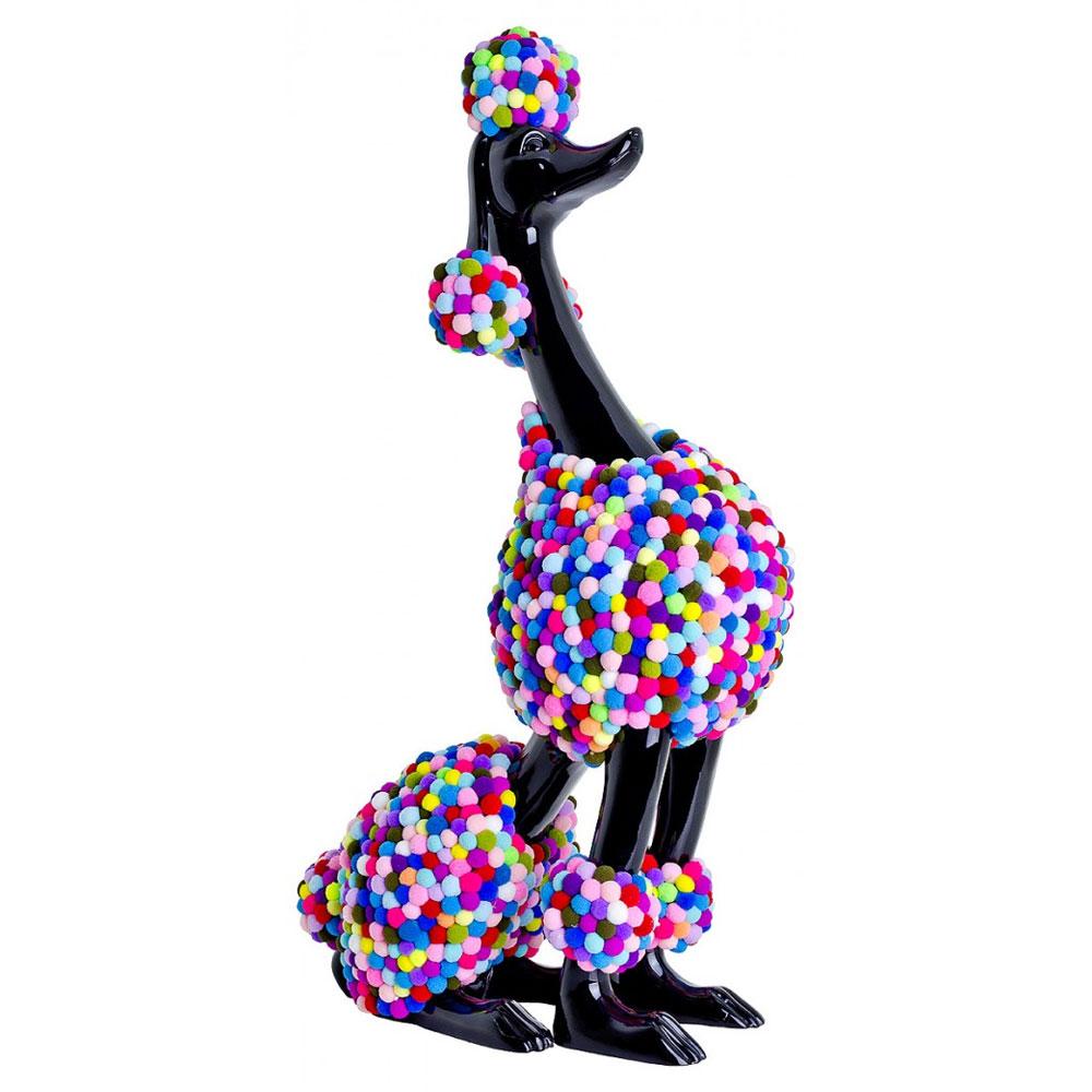 Black Pom-Pom Poodle Sculpture