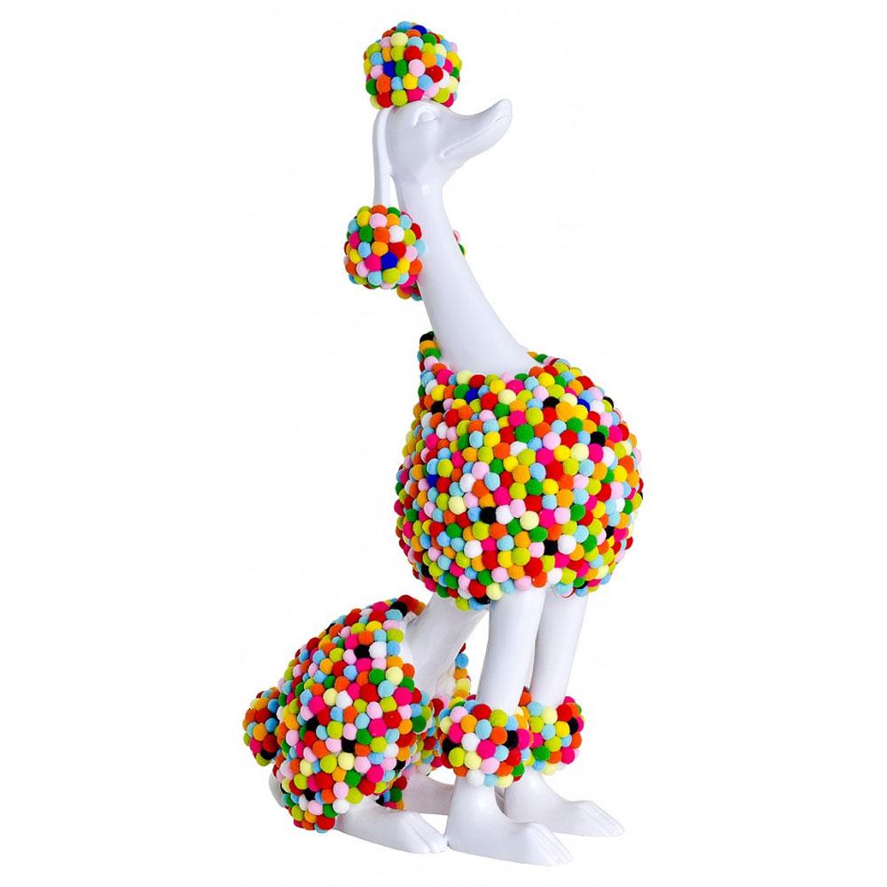 White Pom-Pom Poodle Sculpture