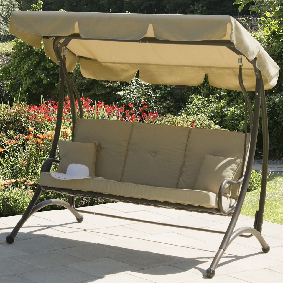 Ferndown Beige 3 Seater Garden Swing Seat