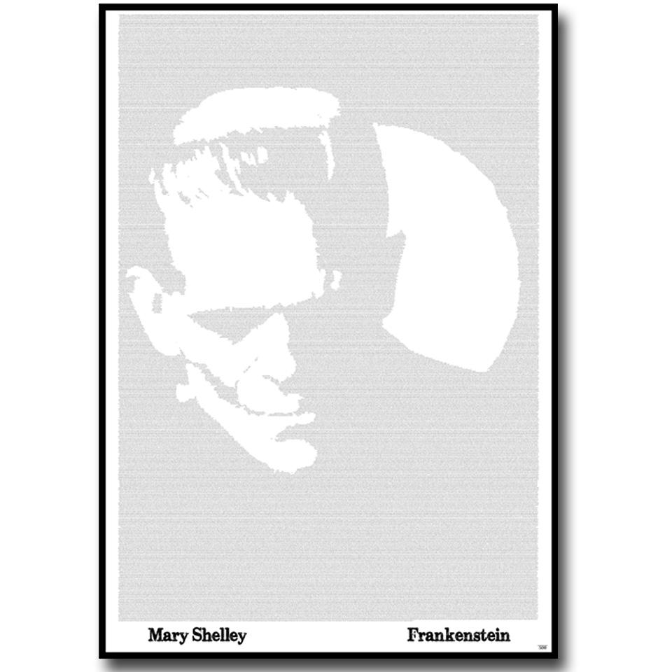 Frankenstein Text Wall Print