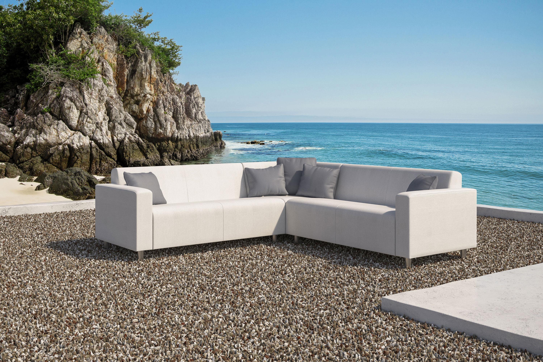 Excellent Frejus White Outdoor Corner Sofa Set Gables And Gardens Inzonedesignstudio Interior Chair Design Inzonedesignstudiocom