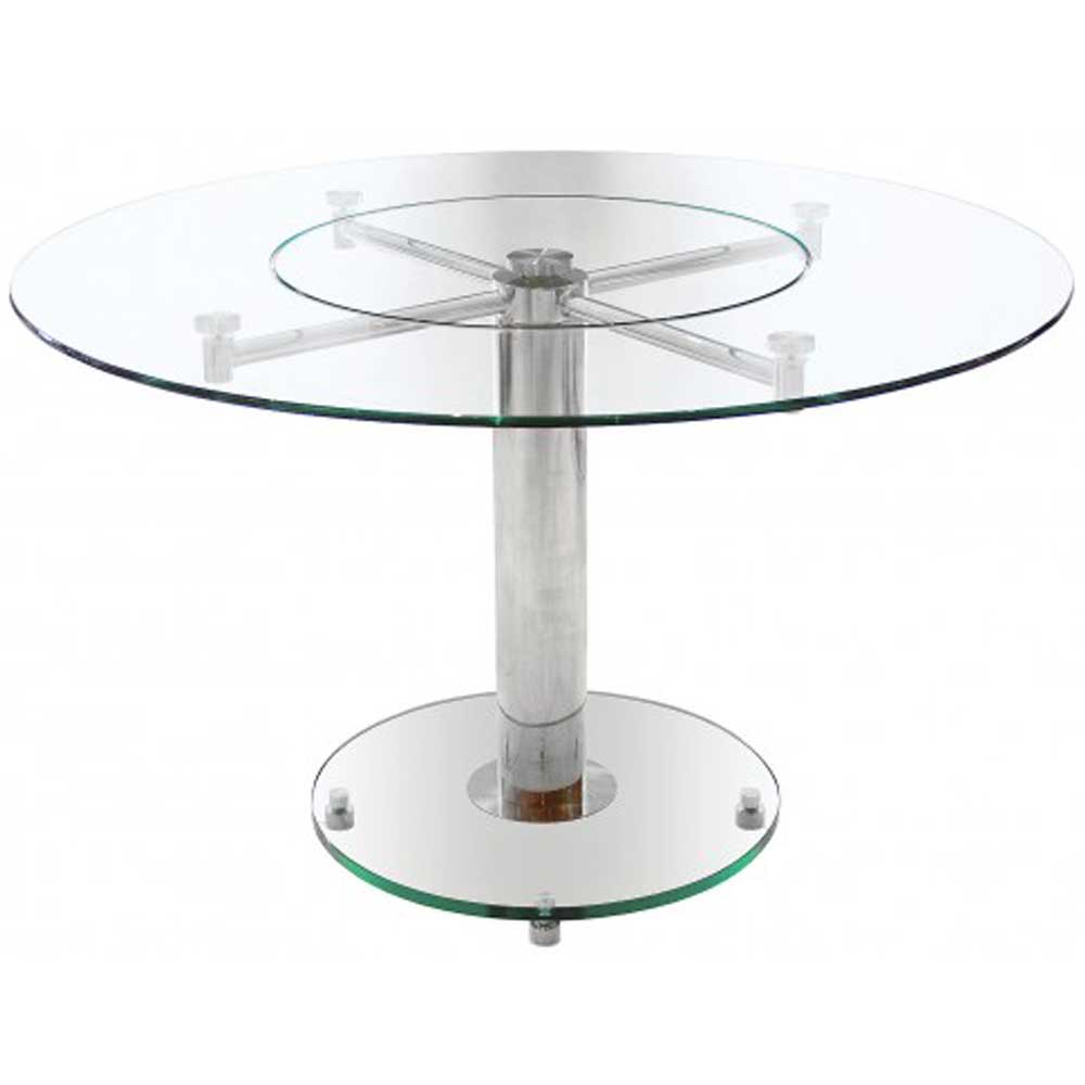 Lazy Susan Clear Dining Table
