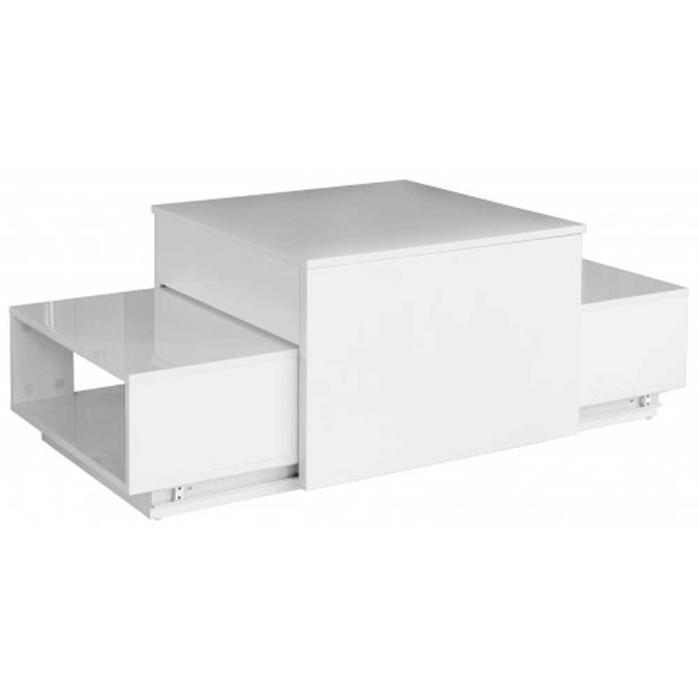 Akita White Sliding Coffee Table