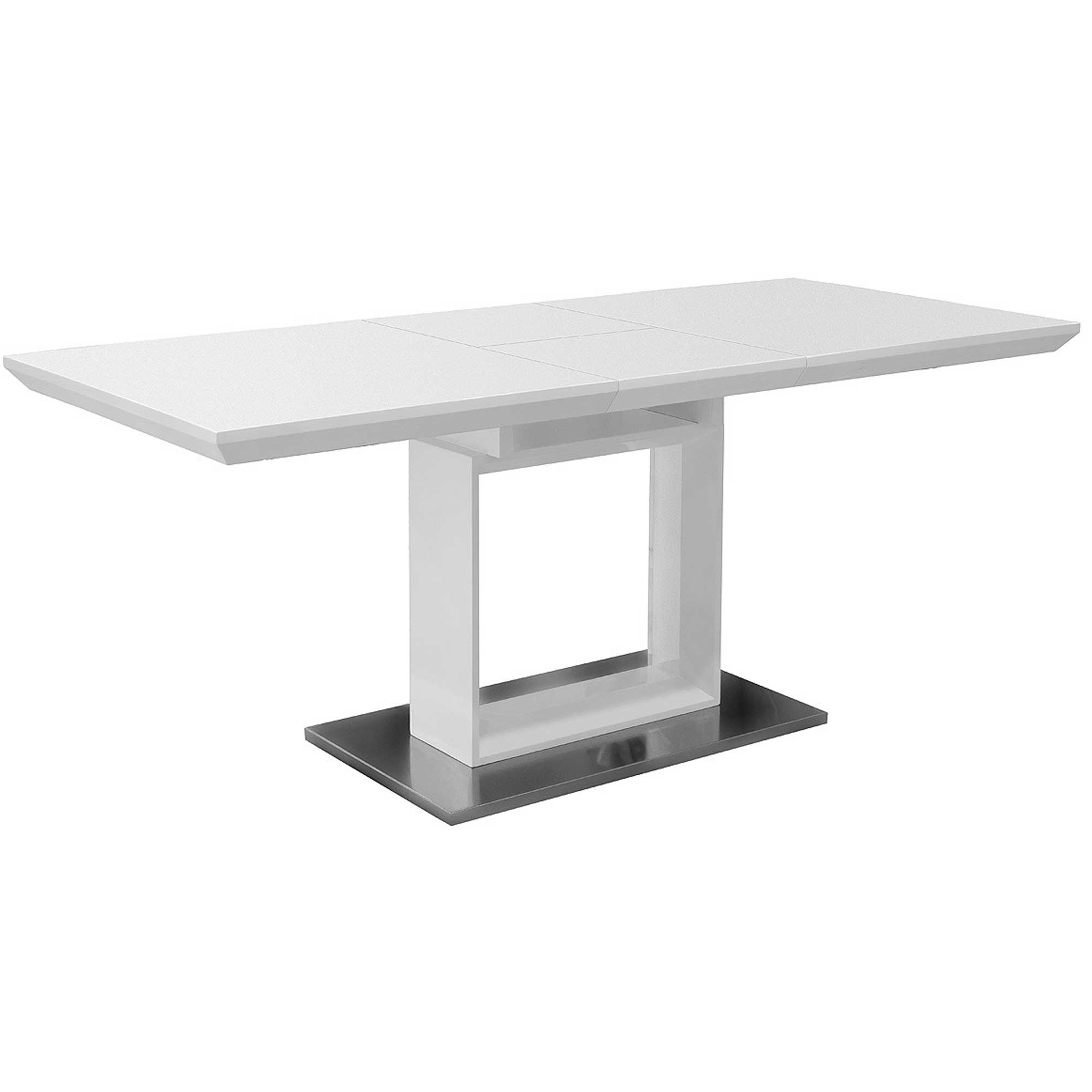 High Gloss White Extending Dining Table