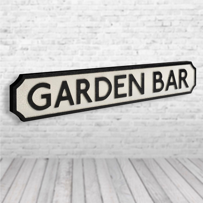 Garden Bar Vintage Road Sign