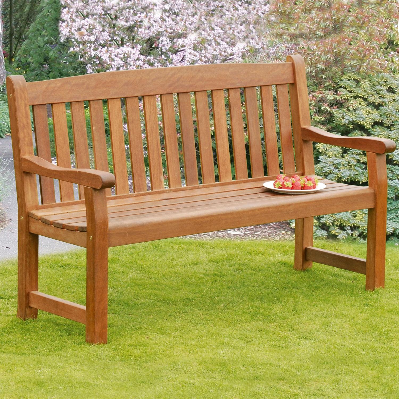 Image of Balmoral 3-Seat Hardwood Garden Bench