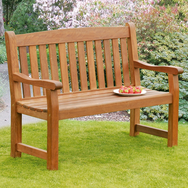 Image of Balmoral 2-Seat Hardwood Garden Bench