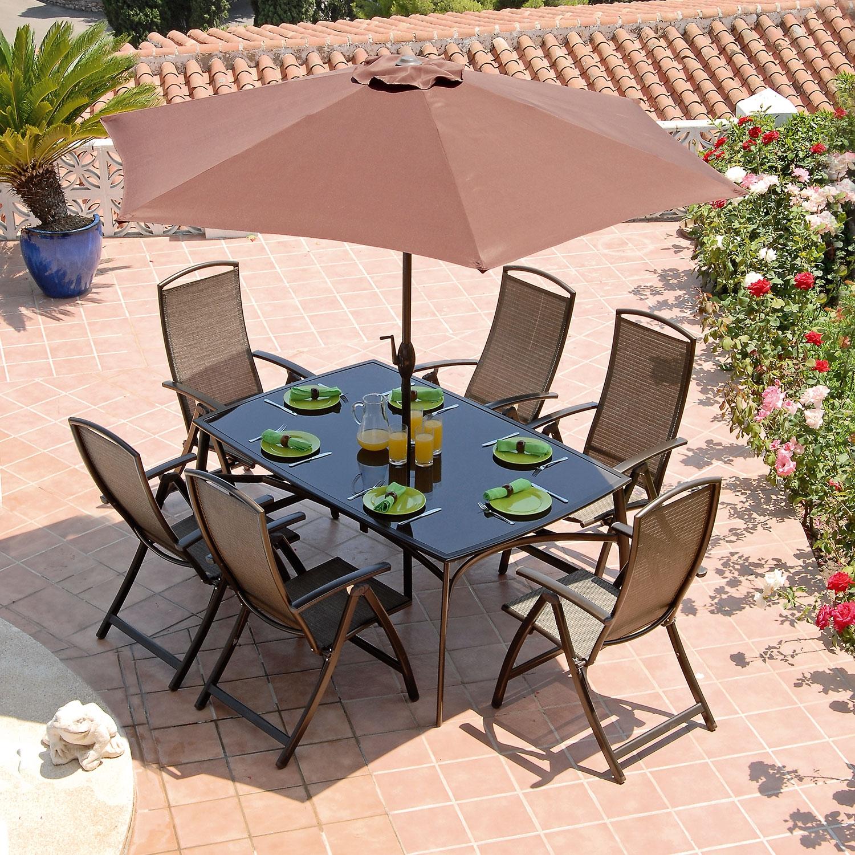 Image of Antigua 6 Seat 1.7m Rectangular Patio Furniture Set - Bronze