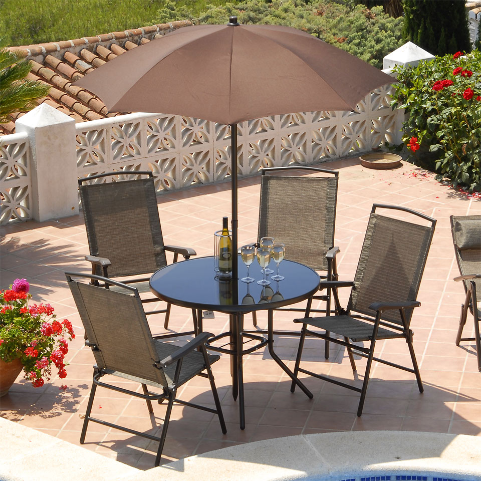 Suntime Havana Bronze 4 Seat 90cm Round Patio Set