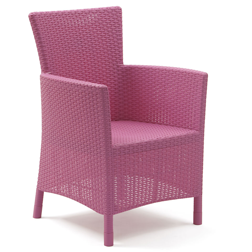 Allibert Iowa Deep Pink Rattan Dining Chair Cushion EBay