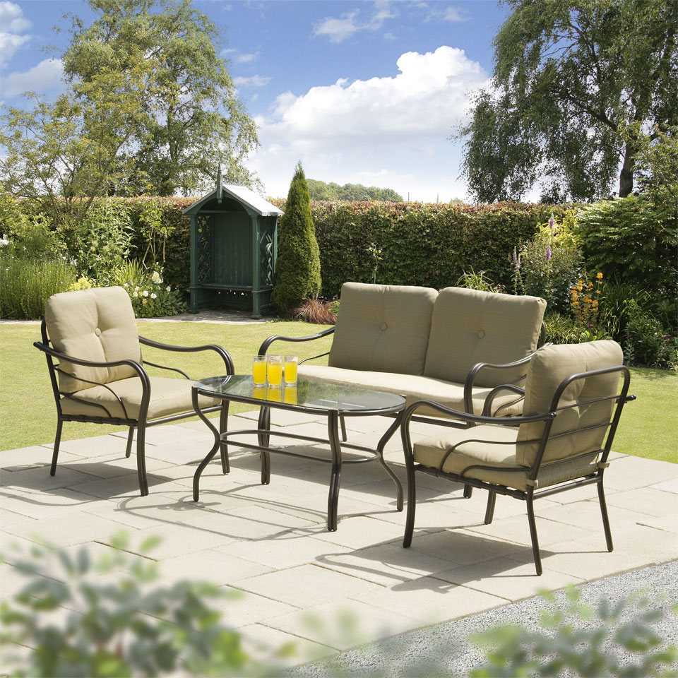 Ferndown Beige 4 Seater Garden and Conservatory Sofa Collection