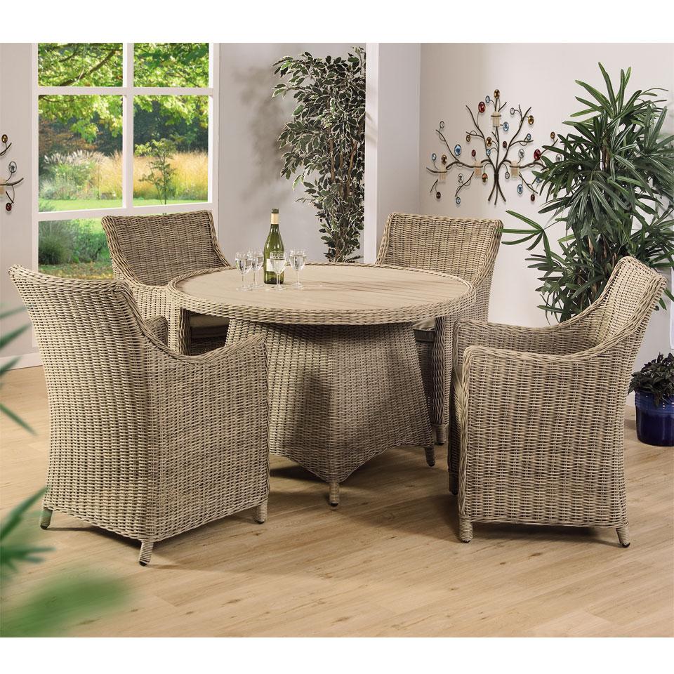 Beaumaris 4 Seat  All Weather Garden and Conservatory Dining Set