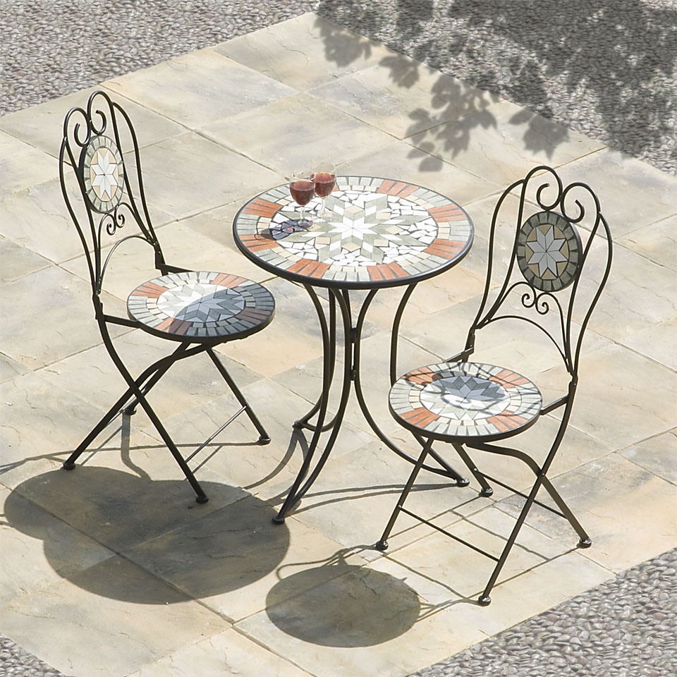 Sabaluca Star Mosaic Cast Iron Bistro Set