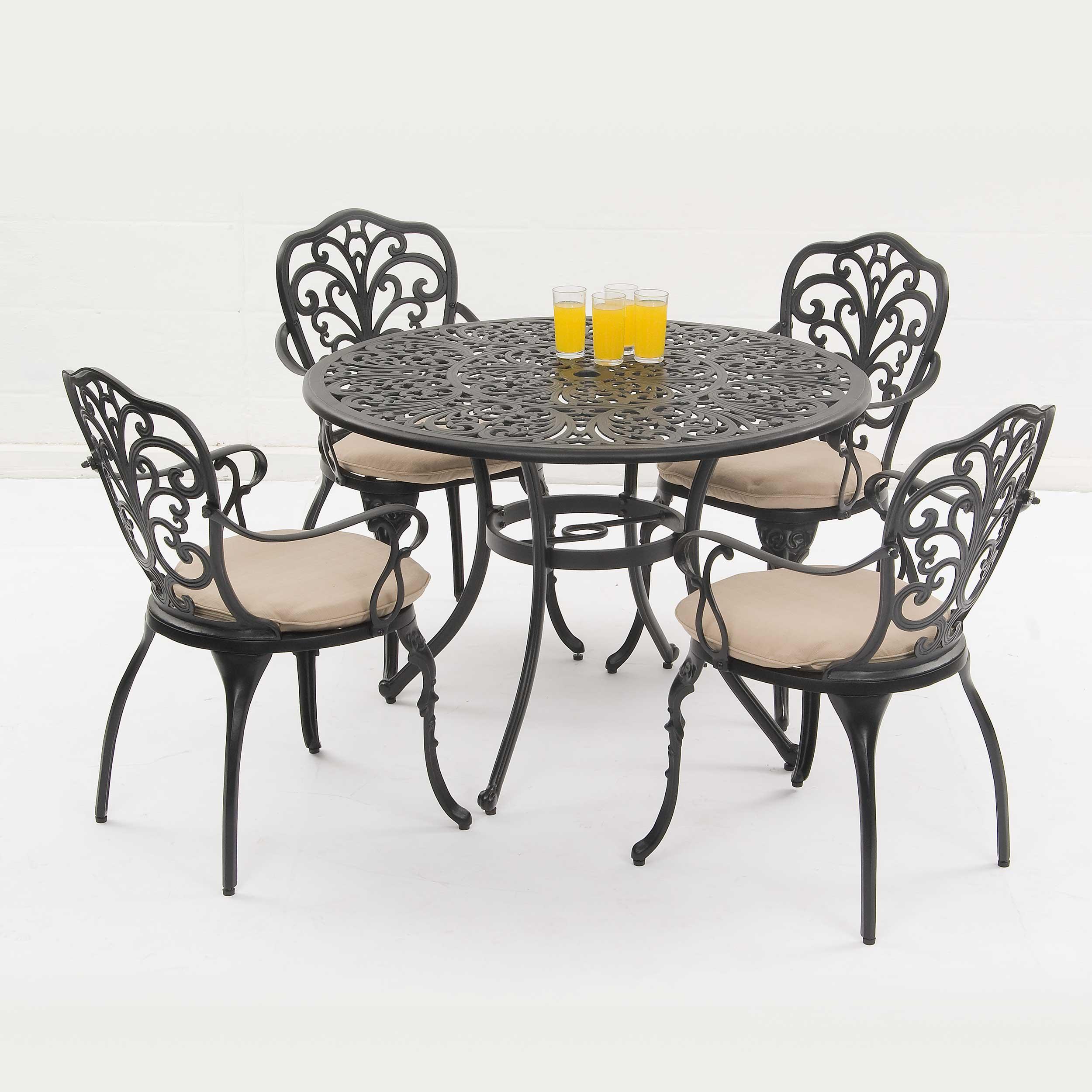 Suntime Sussex Black 7 Piece Garden Dining Set
