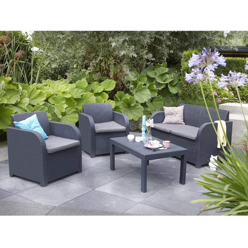 Oklahoma Lounge Set With Cool Grey Cushions