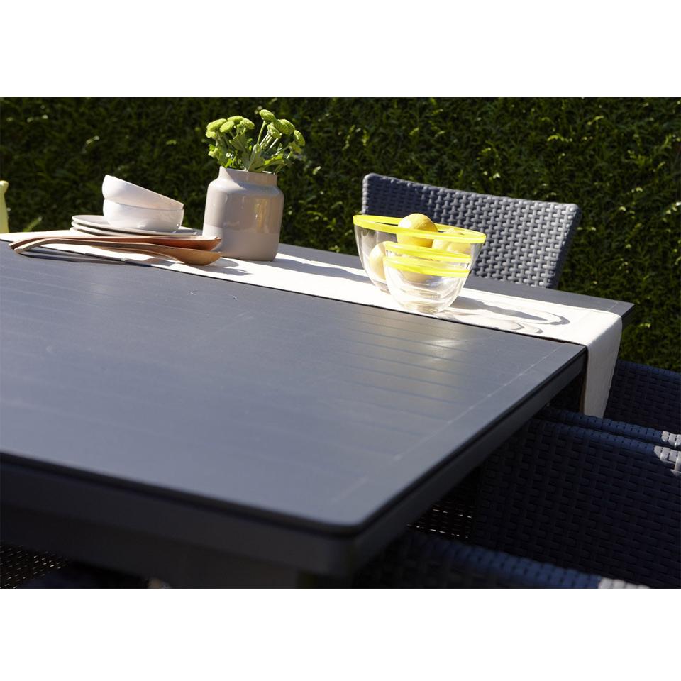 allibert graphite grey futura dining table