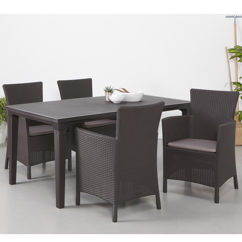 Allibert Graphite Grey Futura Dining Table
