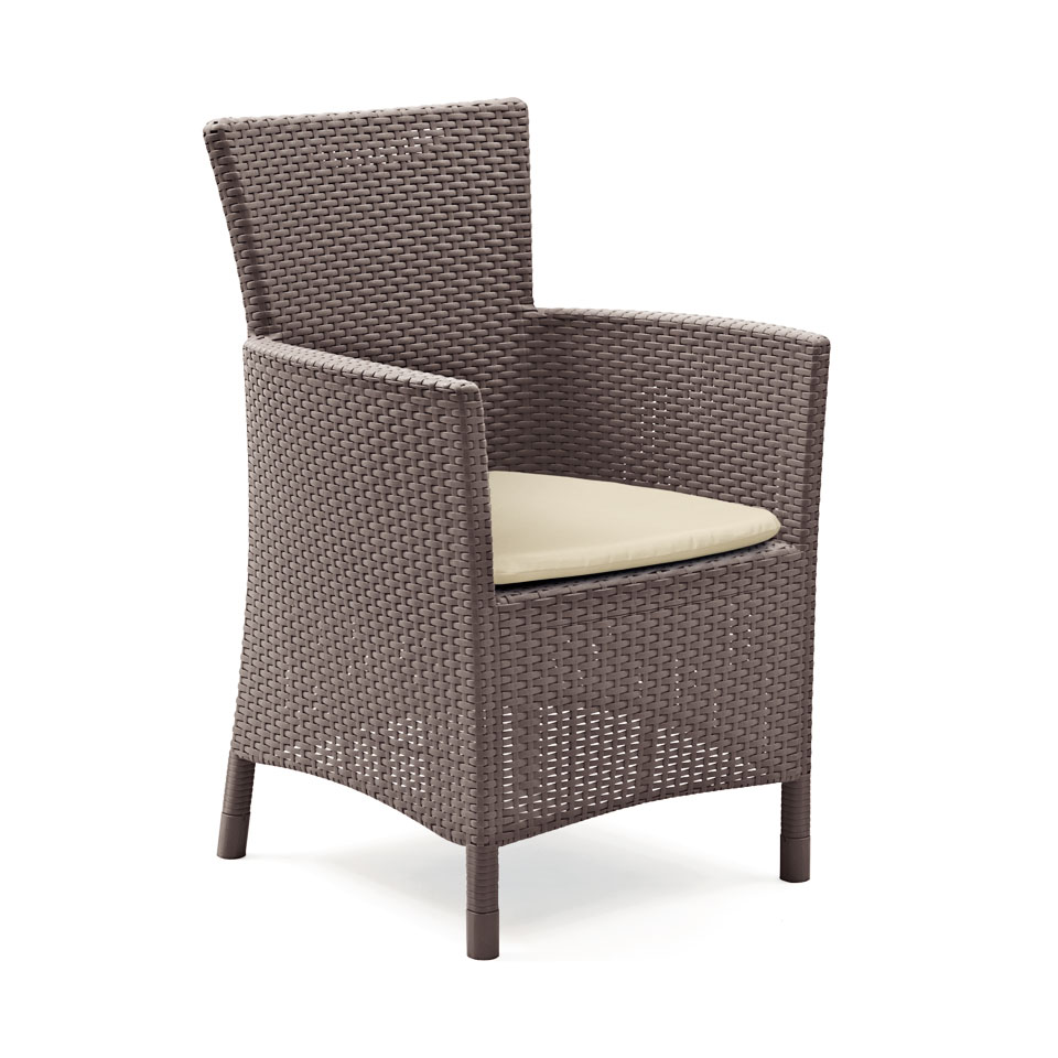 Allibert  Montana Brown Rattan Dining Chair & Cushion