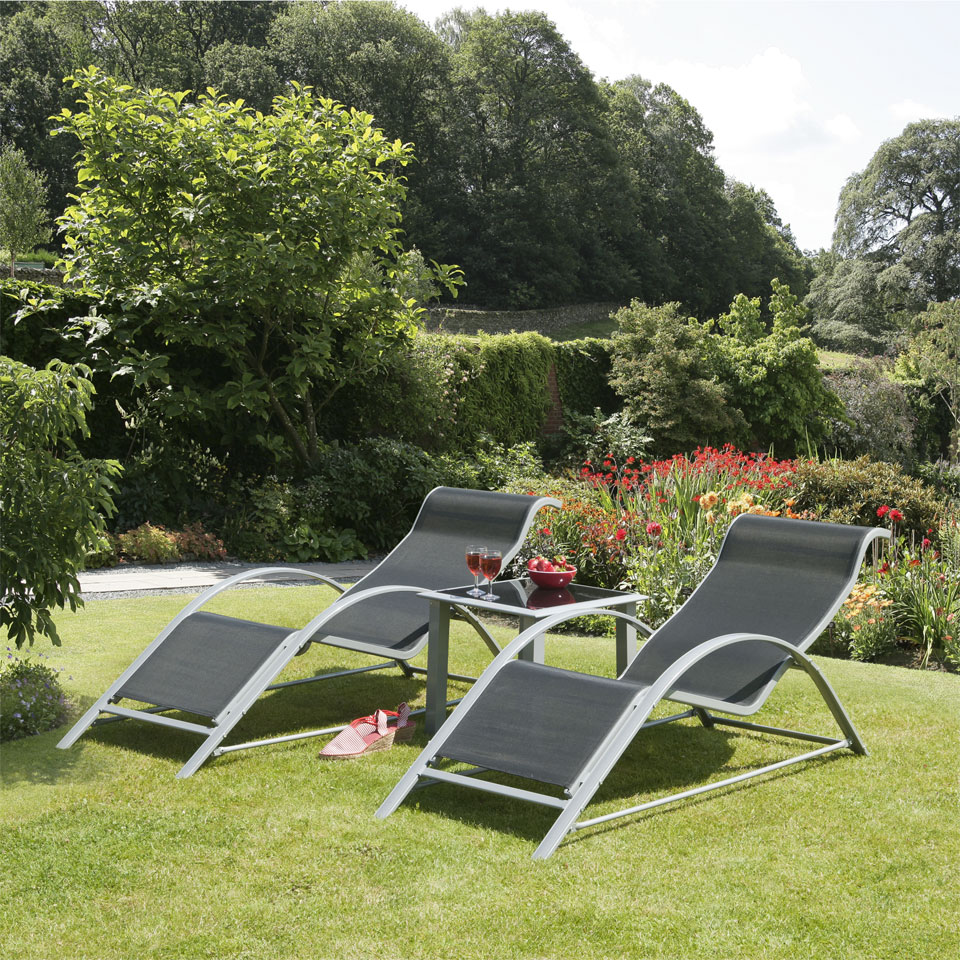 Alpine Sunloungers & Table Set