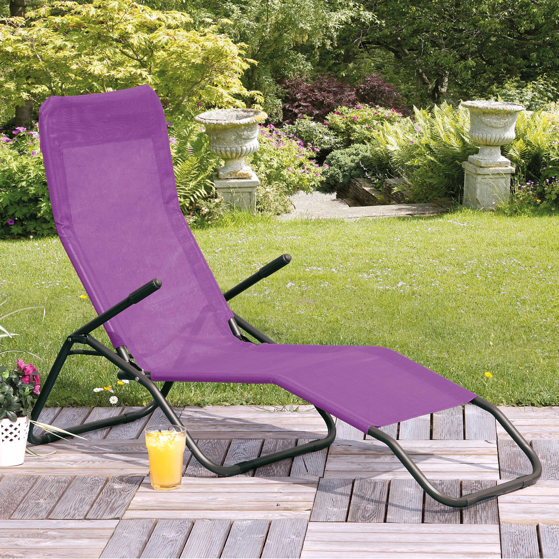 Suntime Siesta Purple Reclining Sunlounger
