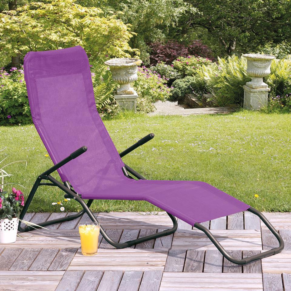 Siesta Purple Reclining Sunlounger
