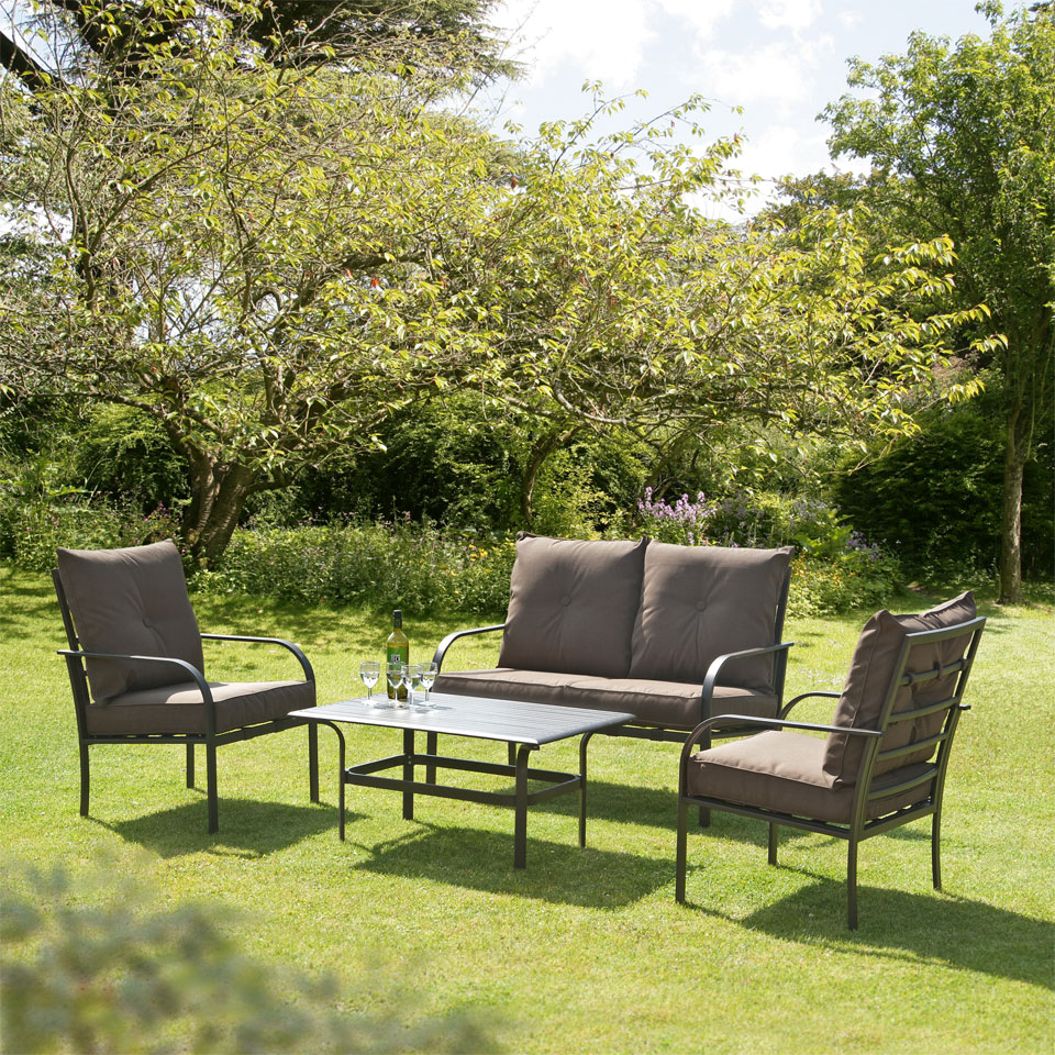 Ferndown Brown 4 Seater Garden and Conservatory Sofa Collection