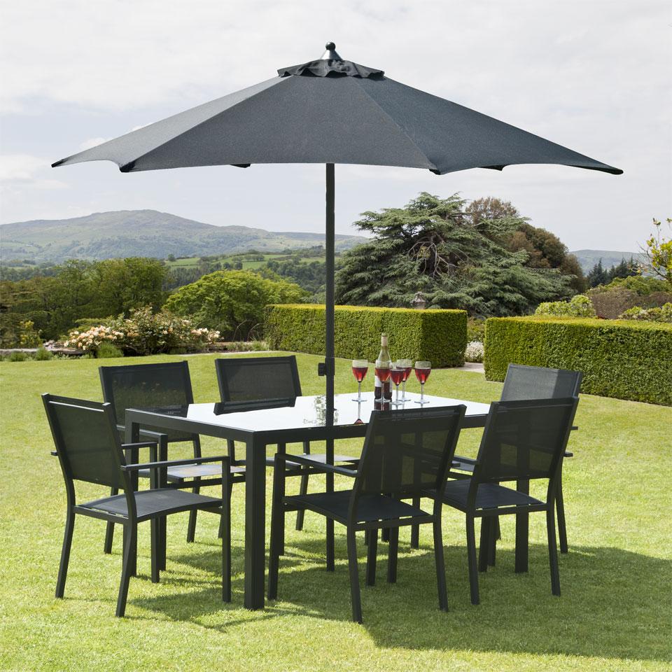 Torino 1.5m  6 Seat  Aluminium Garden Dining Set