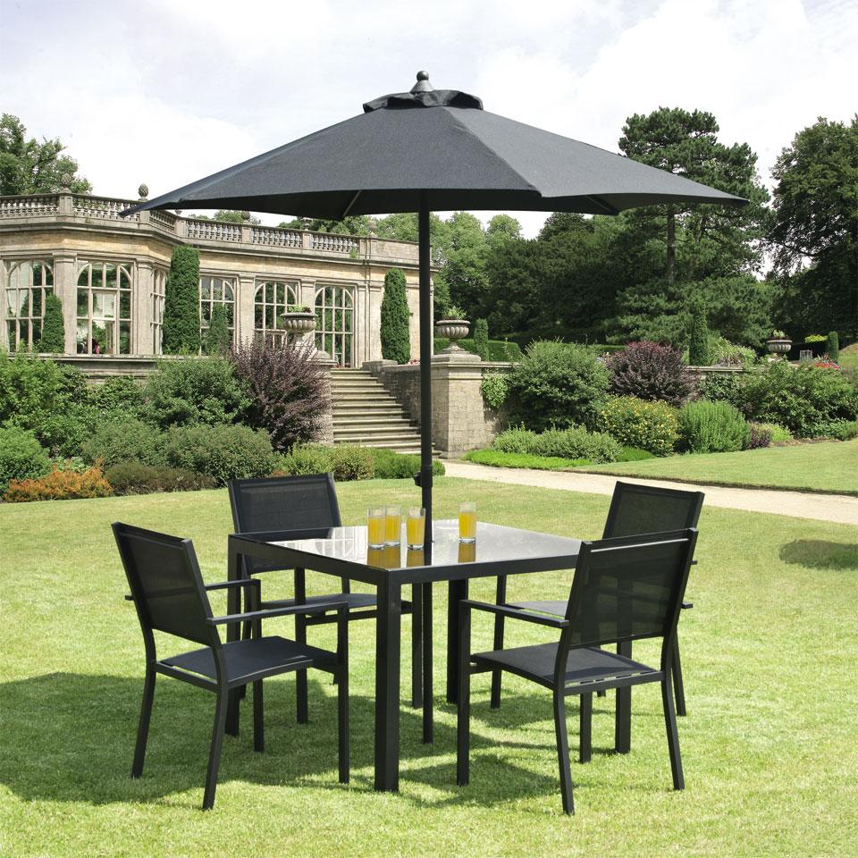 Torino 1m  4 Seat  Aluminium Garden Dining Set