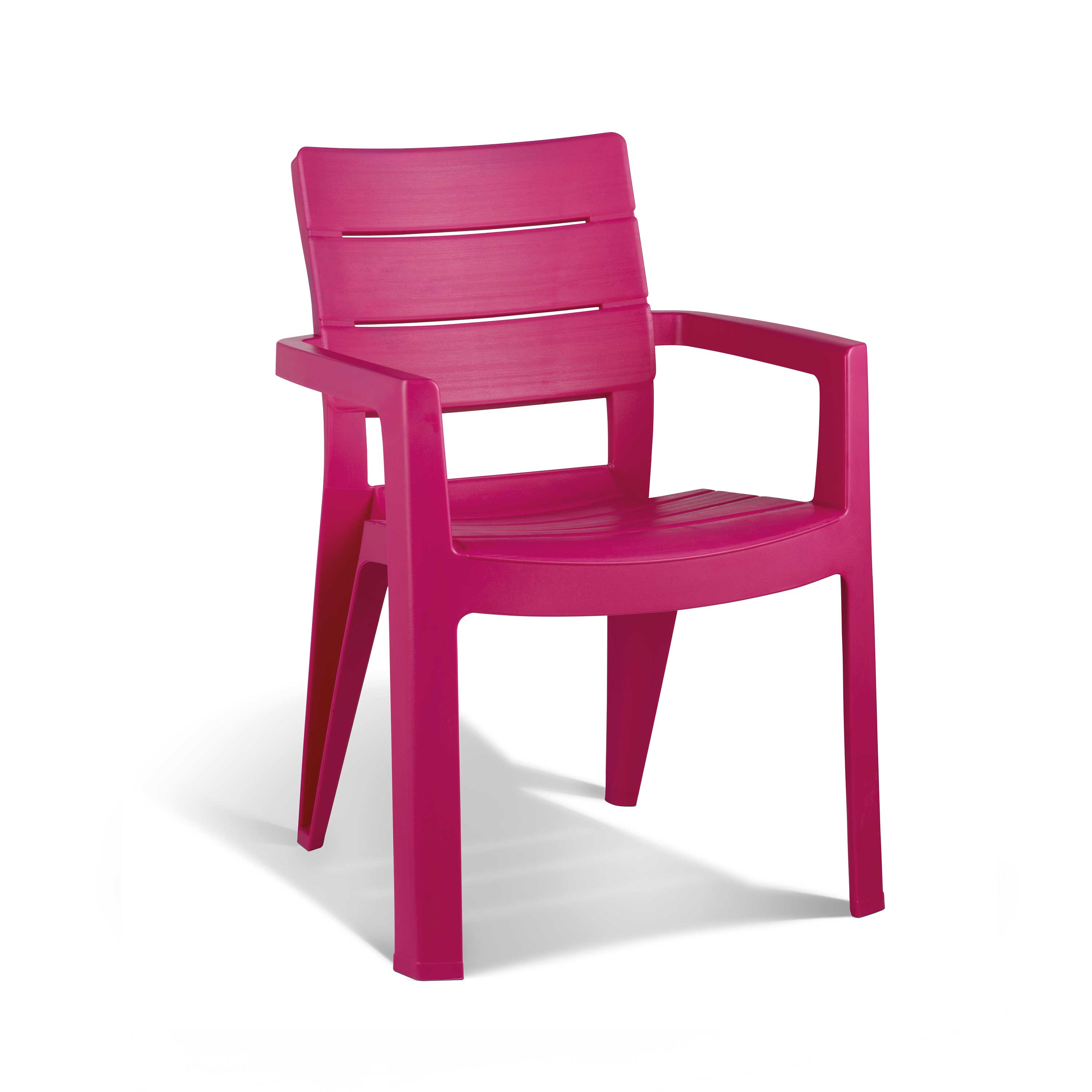 allibert ibiza pink garden dining chair