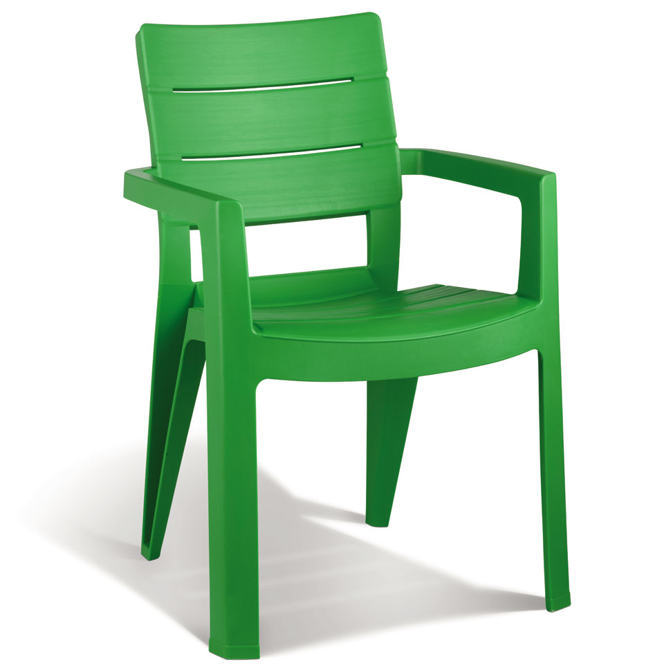 Allibert Ibiza Grass Green Resin Garden Chairs