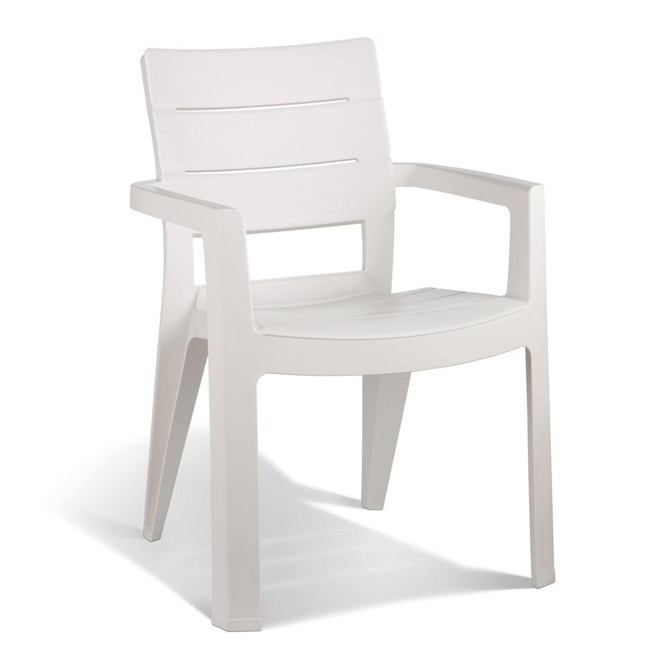 Pair of Allibert Ibiza White Dining & Garden Chairs
