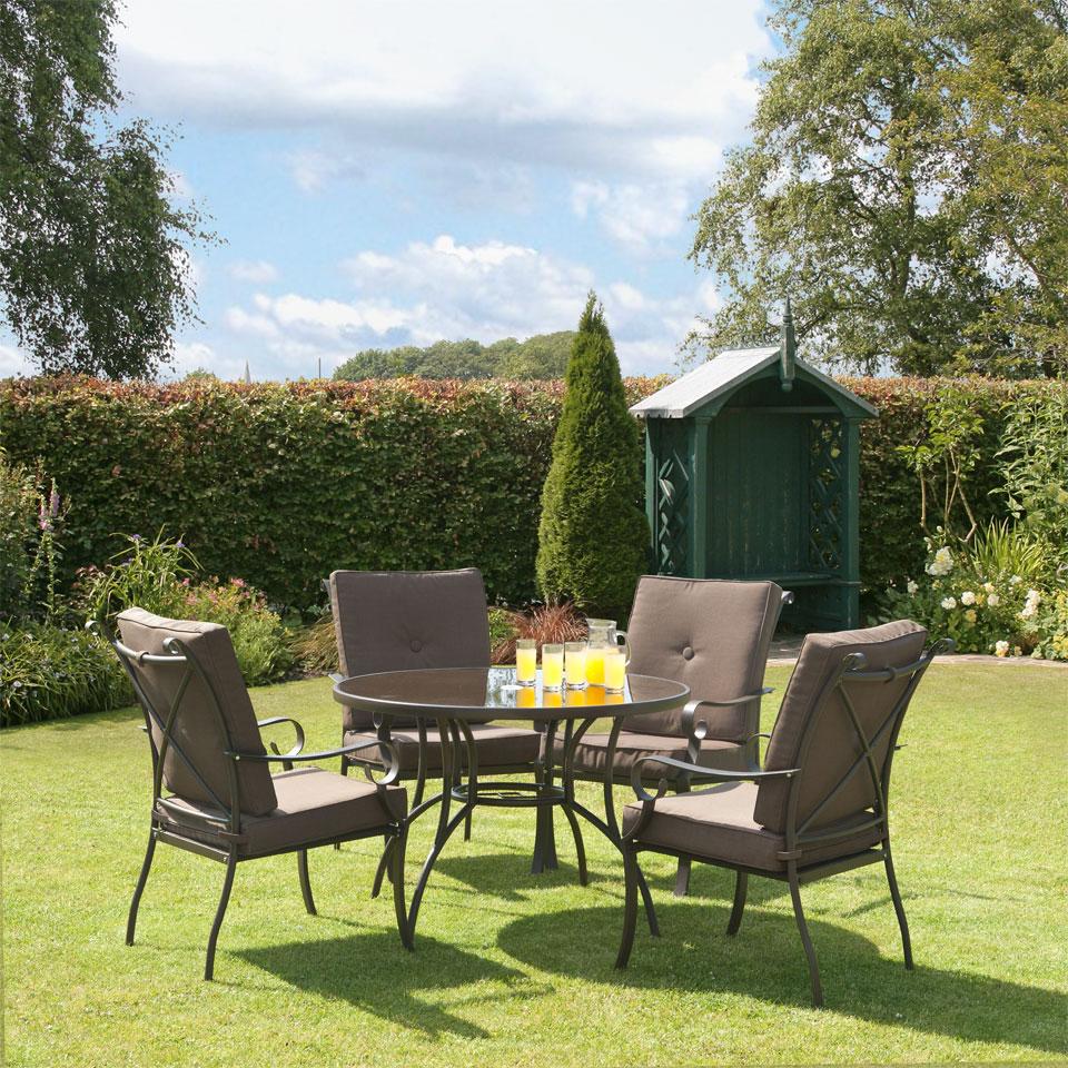 Ferndown Brown 5 Piece Garden & Conservatory Dining Set