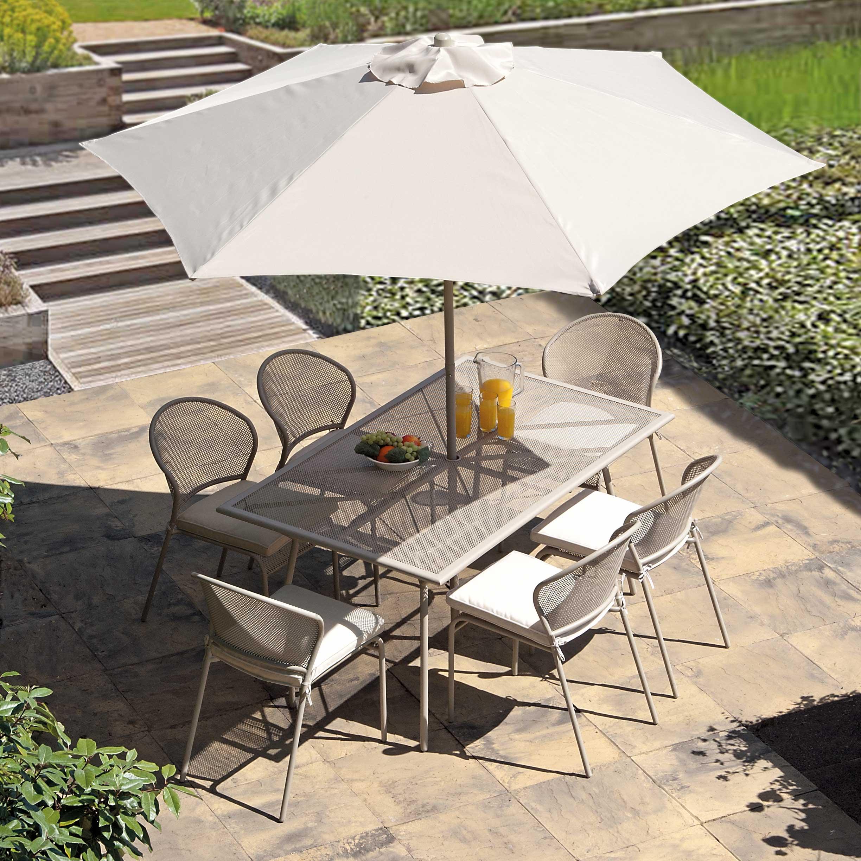 Blenheim Beige 1.5m 6 Seater Patio Furniture Set