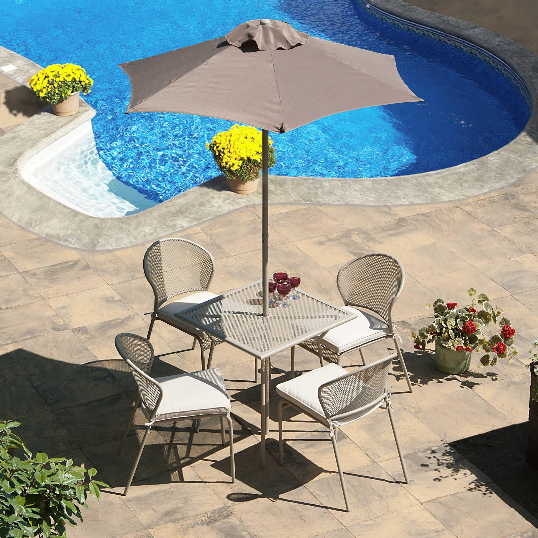 Blenheim 70 cm Square 4 Seat Beige Dining Table Set