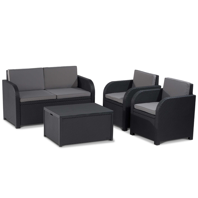 Allibert Modena Outdoor Wicker Lounge Furniture Set