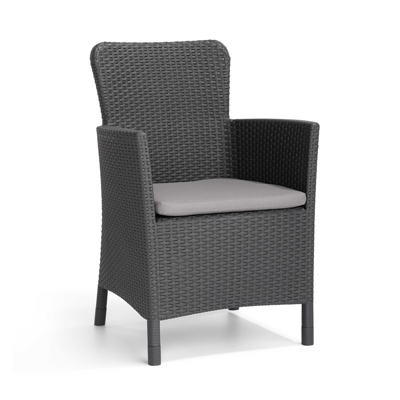 Allibert Miami Graphite Garden Dining Chair