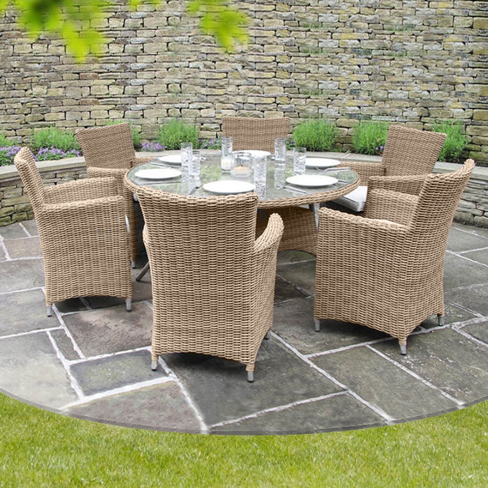 Causeway Bay Rattan 6 Seat Dining Collection