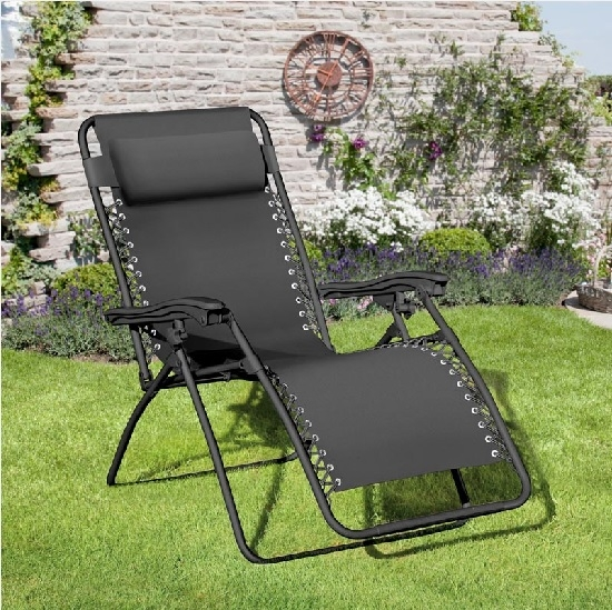 Large Black Royale Gravity Chair