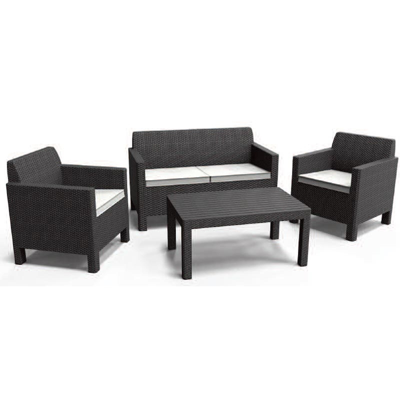 Orlando Lounge Set With Graphite Cushions