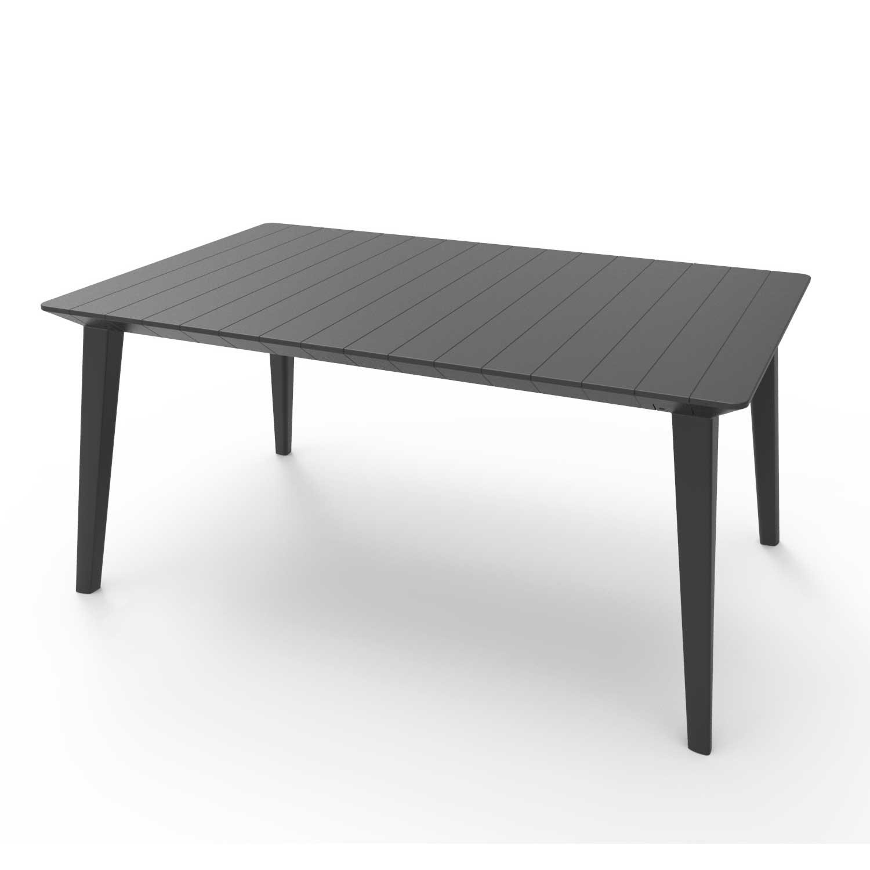 Allibert Lima 1.6m Graphite 6 Seater Garden Table
