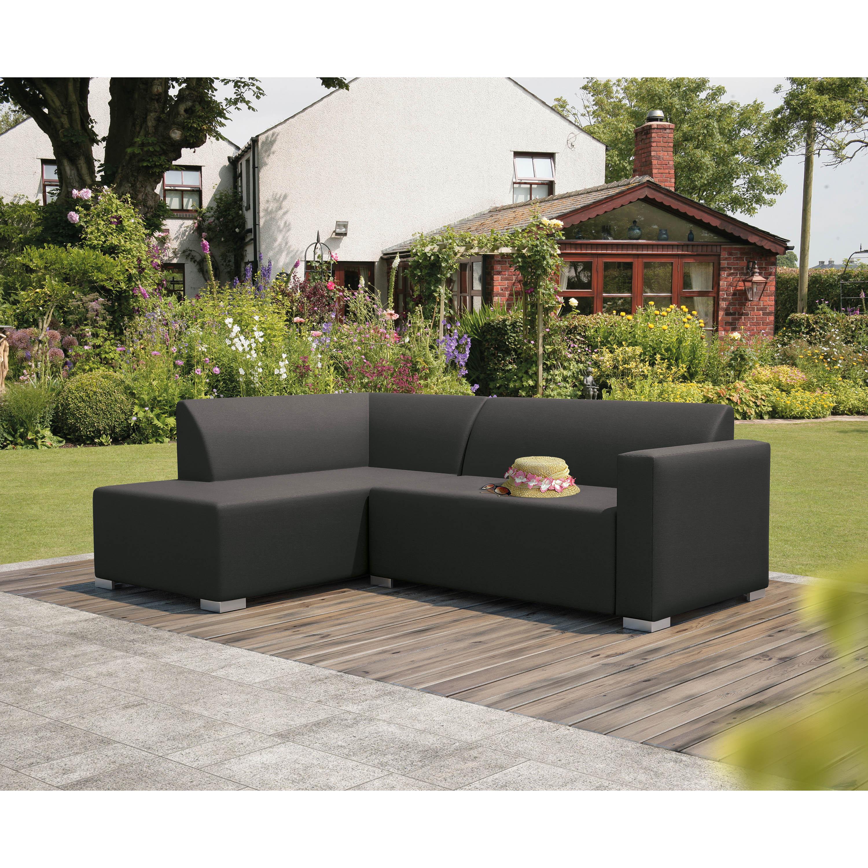 Portofino Graphite Grey Corner Sofa
