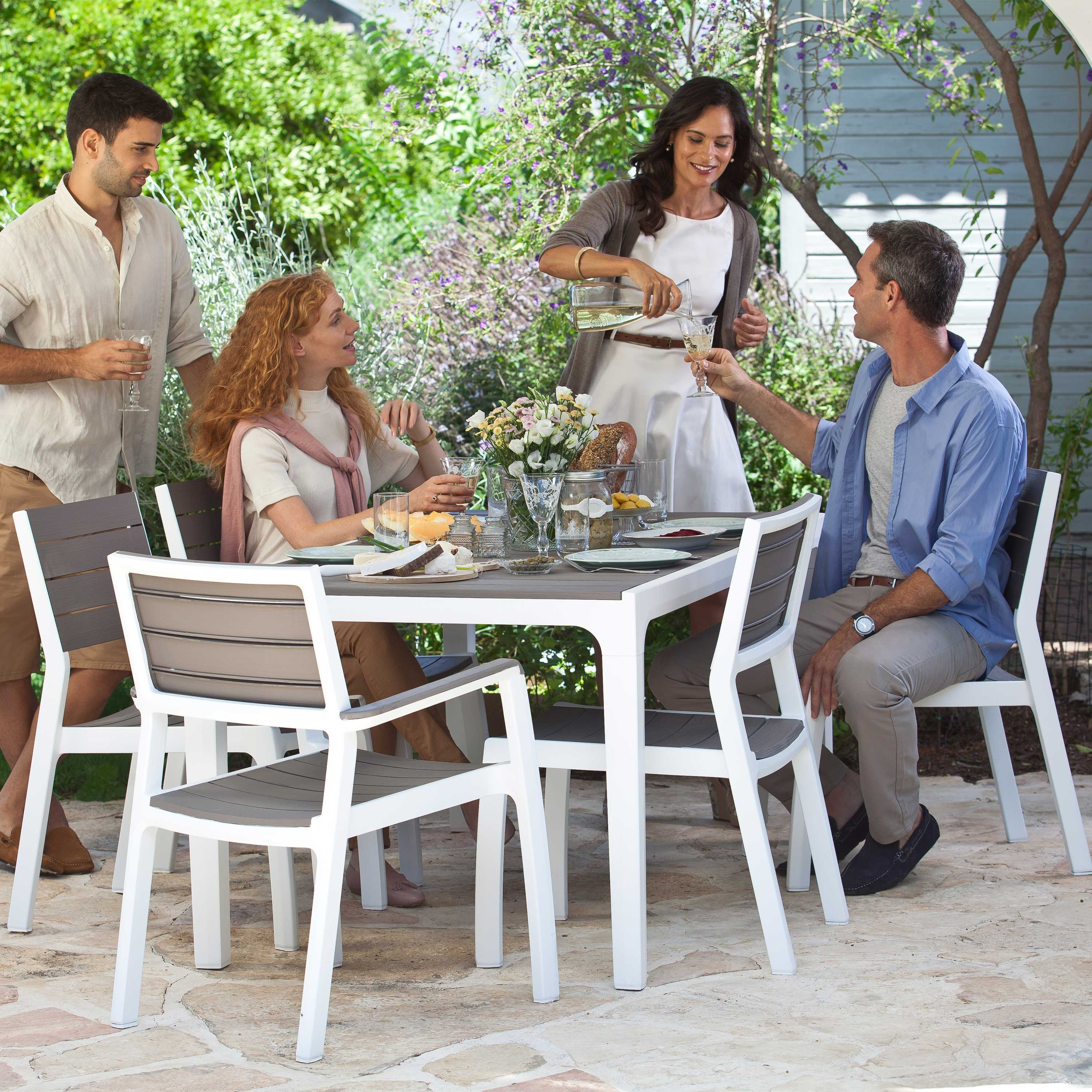Keter Harmony Cappuccino 6 Seat Dining Set