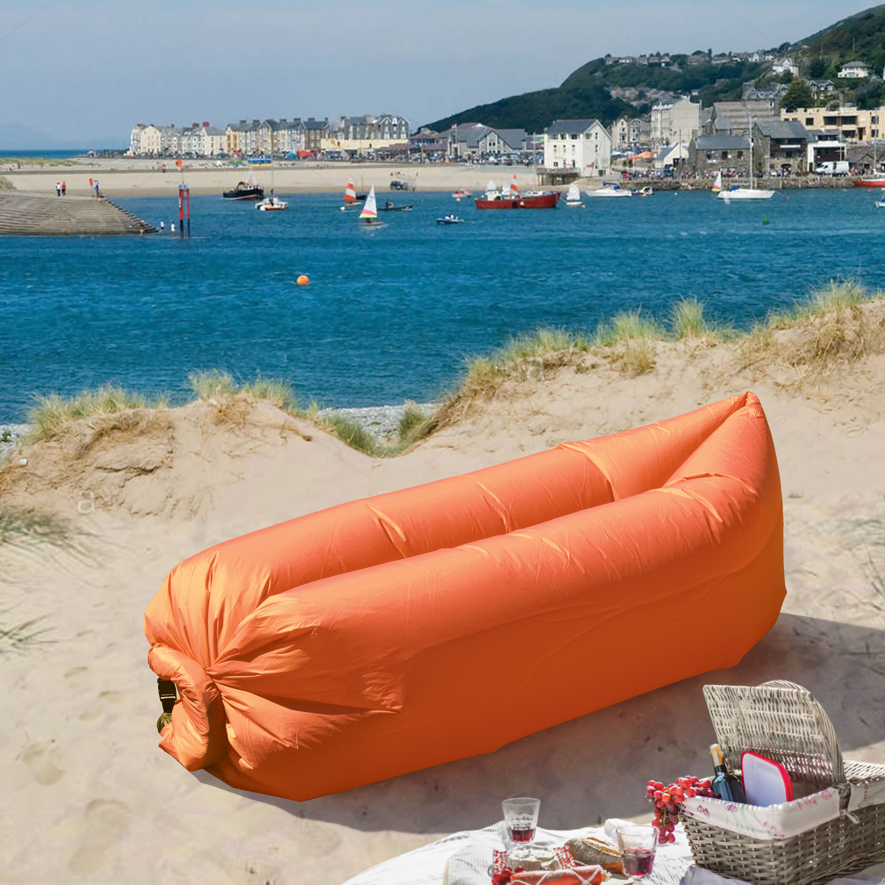 LazyBag Instant Lounge Seat - Orange
