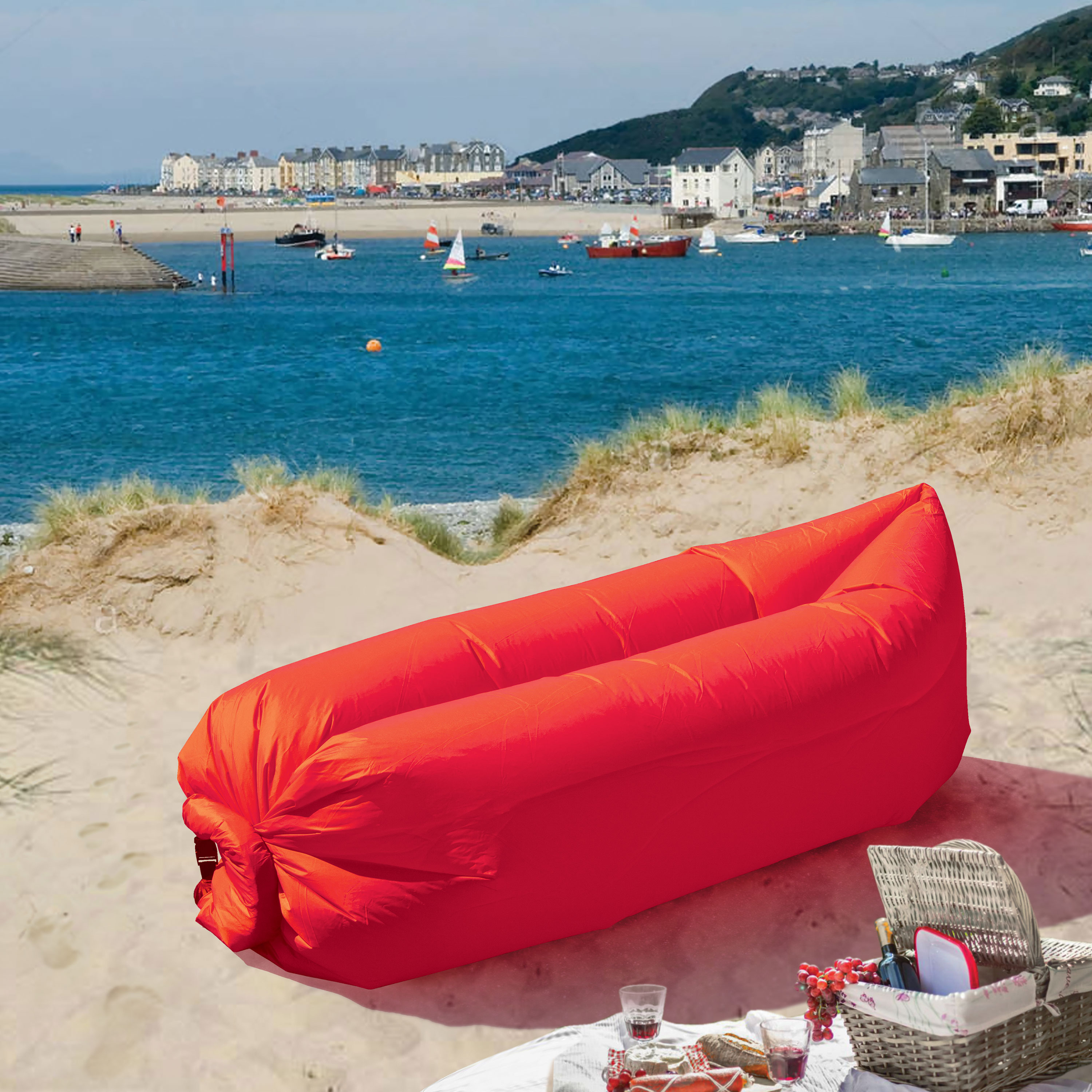 LazyBag Instant Lounge Seat - Red
