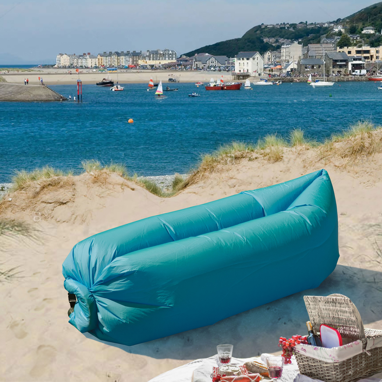 LazyBag Instant Lounge Seat - Aqua Blue