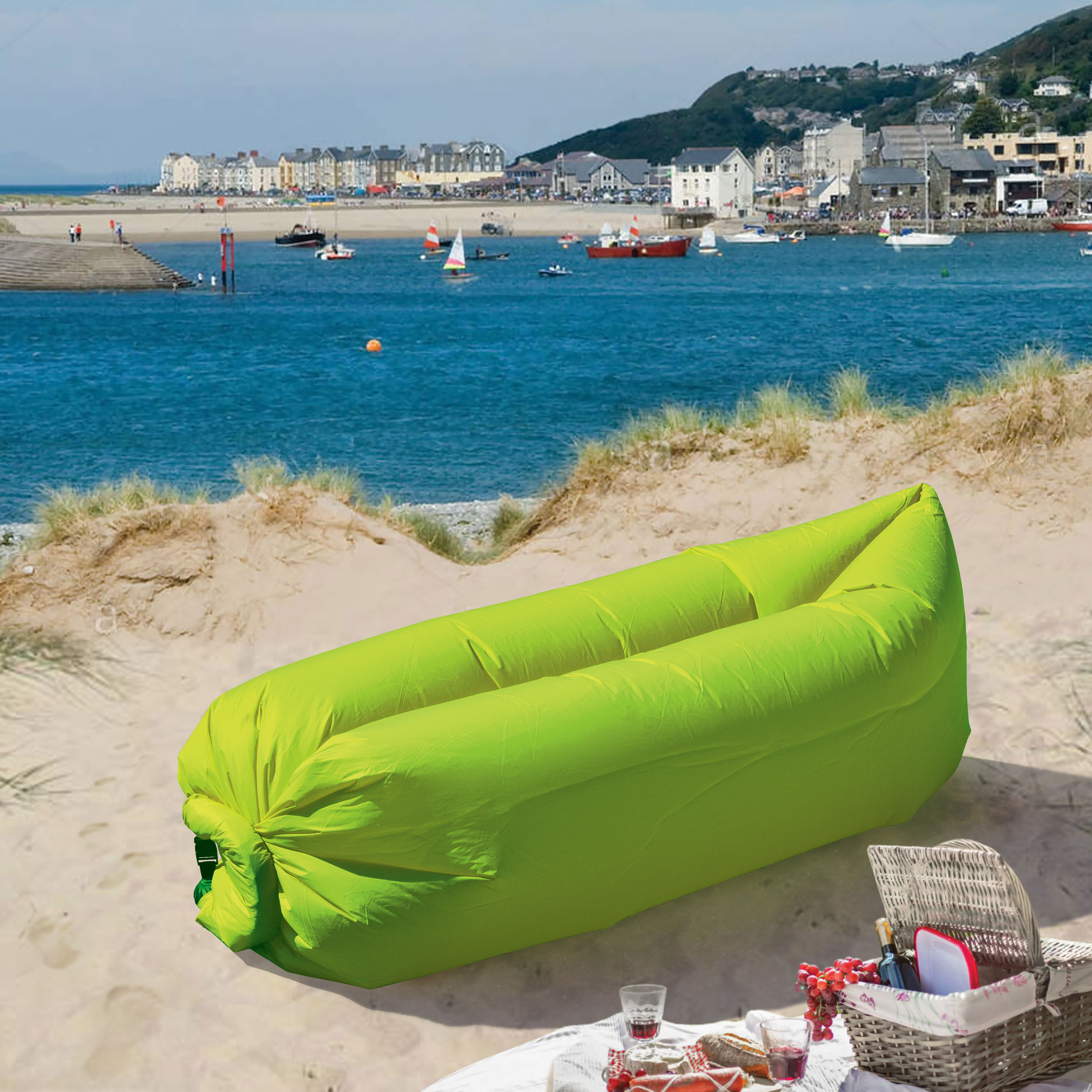 LazyBag Instant Lounge Seat - Green