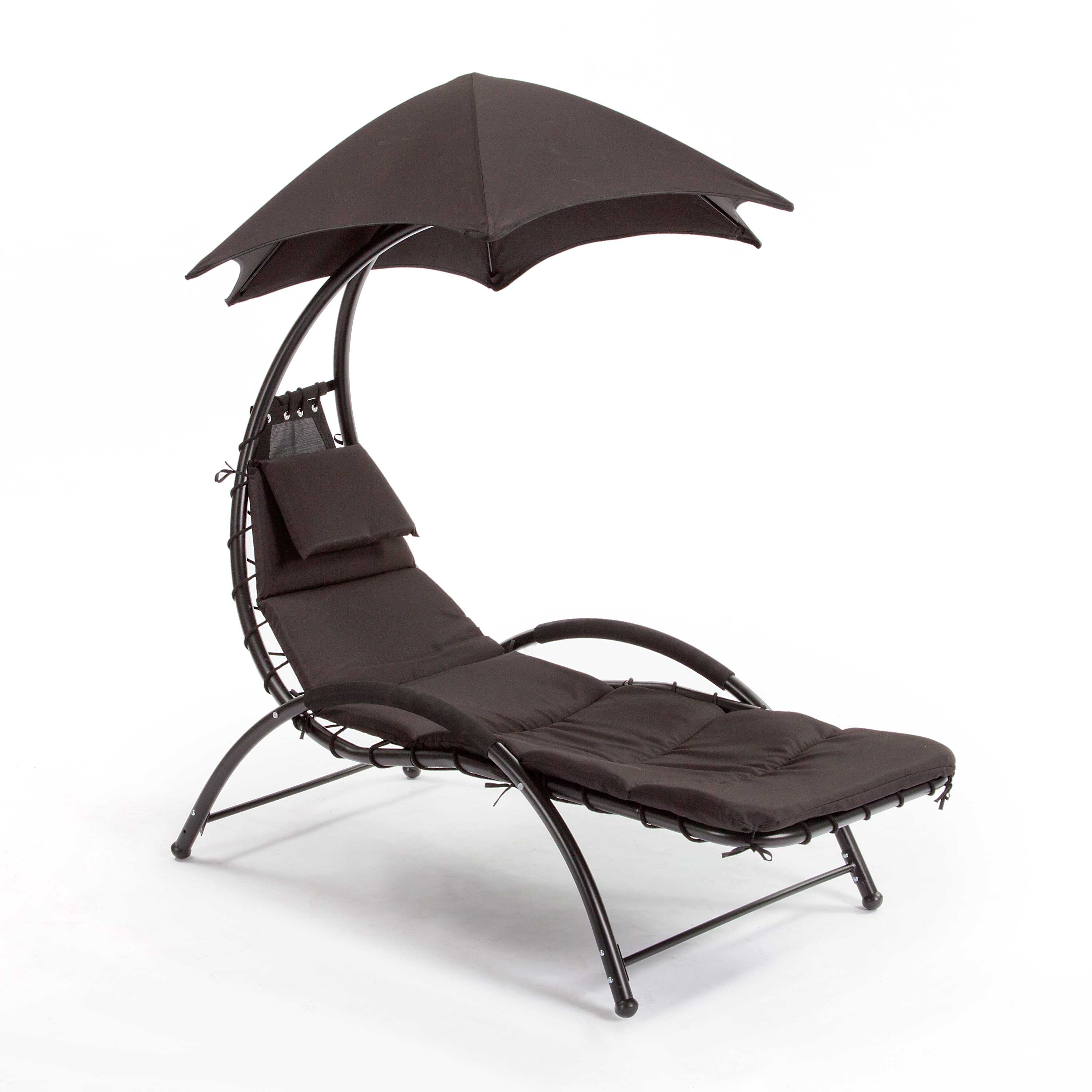 Suntime Black Helicopter Sun Lounger